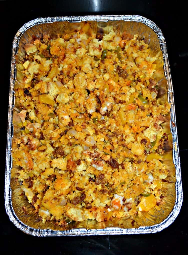 Looking for an alternative to boring, bland stuffing?  Try my Jalapeno and Chorizo Cornbread Stuffing.