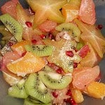 Winter Fruit Salad with Vanilla Scented Honey Lemon Drizzle: Meatless Monday