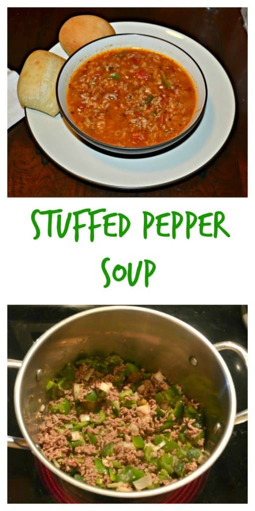 Stuffed Pepper Soup is ready in under an hour
