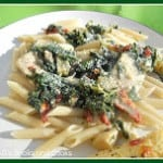 Chicken Florentine Pasta with a White Wine Cream Sauce