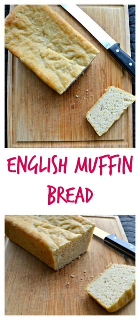 A slice of English Muffin Bread