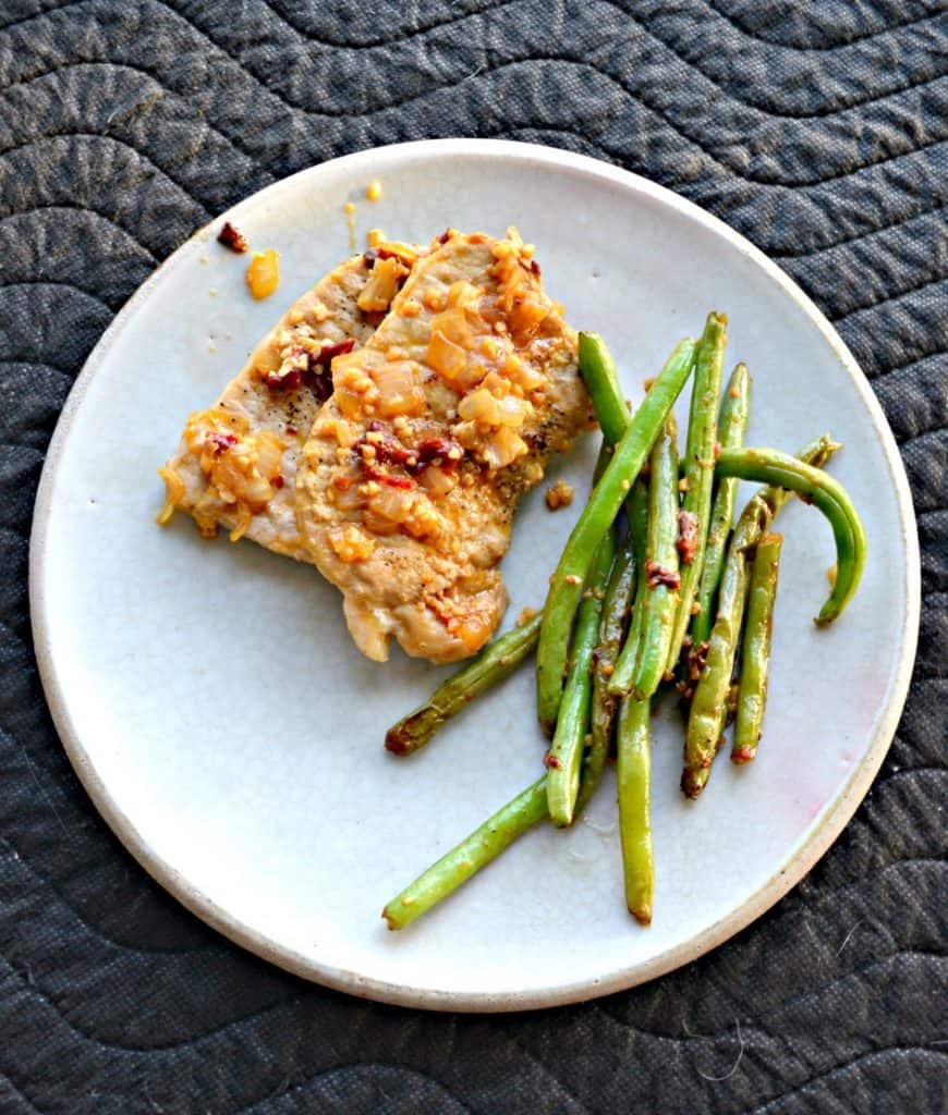 Conga Lime Pork chops with green beans