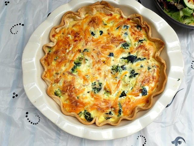 Farm Fresh Vegetable Quiche from Hezzi-D's Books and Cooks