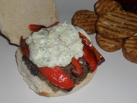 Try this award winning Black Bean Burger with Cream Sauce on top
