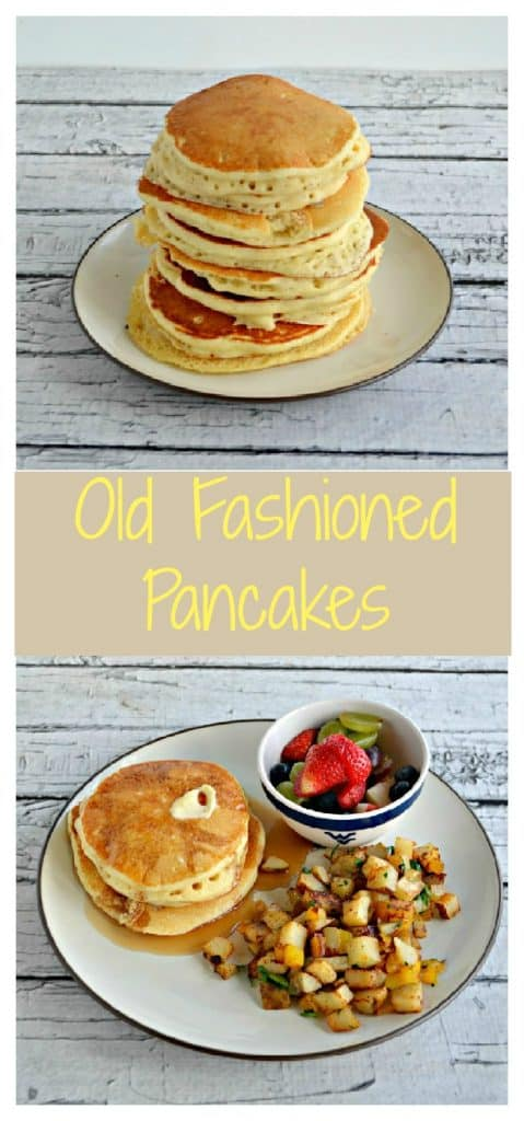Old Fashioned Pancakes with fruit