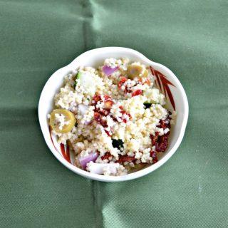 A bowl of couscous salad