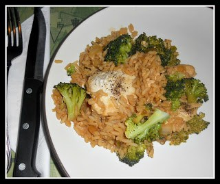 One Pot Spicy Asian Chicken and Broccoli with Rice
