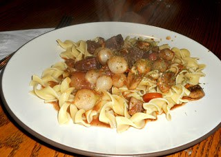 Try this Boeuf Bourguignon over top of egg noodles from Julia Child