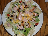Make a tasty Sante Fe Chicken Salad with Homemade dressing for dinner!