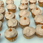 Pumpkin Butterscotch Cupcakes with Cinnamon Frosting