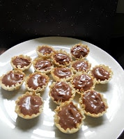 Tarts filled with homemade Nutella Pastry Cream
