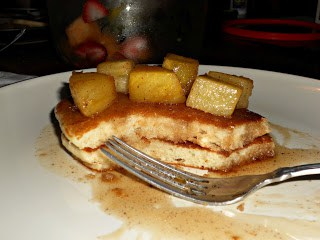 Delicious Pineapple Upside Down Cake Pancakes are amazing!