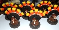 OREO Turkeys are a fun dessert for Thanksgiving.