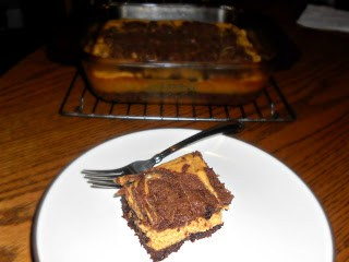 Delicious Pumpkin Spice Cheesecake and Brownies together in one tasty treat!