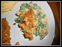 Cheddar Cheese Green Bean Casserole is a twist on the traditional recipe.