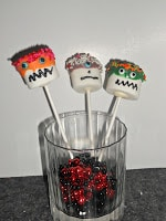 Monster Pops are a fun and easy Halloween dessert or are great for a birthday party!