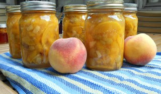 Fresh Peach Pie Filling canned to enjoy all year round.