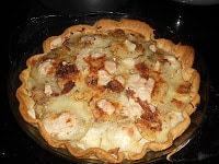 Potato Tart with Gruyere, Bacon, and Rosemary.  This is a great side dish recipe.