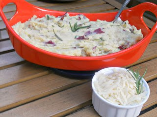 Rosemary Parmesan Mashed Potatoes from Hezzi-D's Books and Cooks