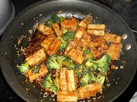 Healthy Sesame Tofu with Broccoli