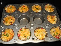 Twice Baked Mashed Potatoes made in muffin cups!