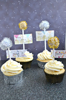 Champagne Cupcakes filled with Champagne Cream are a fabulous party dessert!
