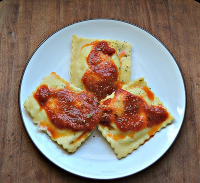 Four Cheese Ravioli with Leeks from Hezzi-D's Books and Cooks