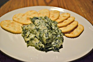 Hot Parmesan Spinach Dip is an easy appetizer.