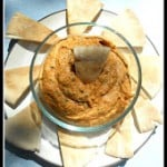 Roasted Red Pepper Hummus #SundaySupper