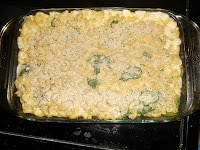 Lighter Baked Macaroni and Cheese with Spinach