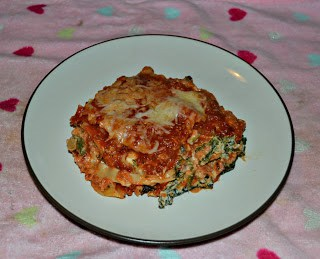 Vegetable Lasagna with Homemade Vodka Sauce