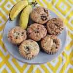 Biscoff Banana Chocolate Chip Muffins