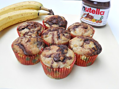 Nutella and Banana Bread Muffins