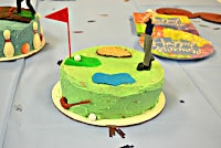 Carrot  Cake decorated like a golfing cake is fun to make for birthdays or retirements!