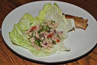 Thai Larb Lettuce Cups are healthy and delicious.