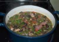 Mixed Greens and Sausage Soup with Dumplings - Hezzi-D's ...