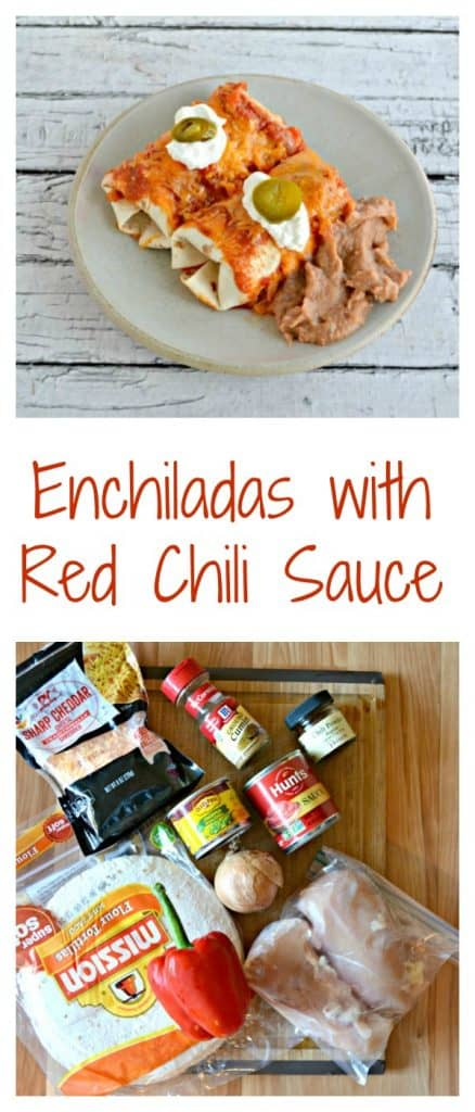 Everything you need to make Enchiladas with Red Chili Sauce