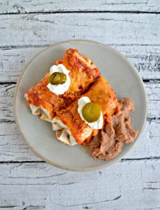 Enchiladas with Red Chili Sauce