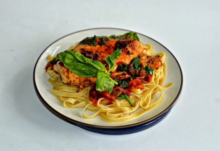 Italian Herb Sauteed Chicken over pasta is a quick and easy weeknight meal.