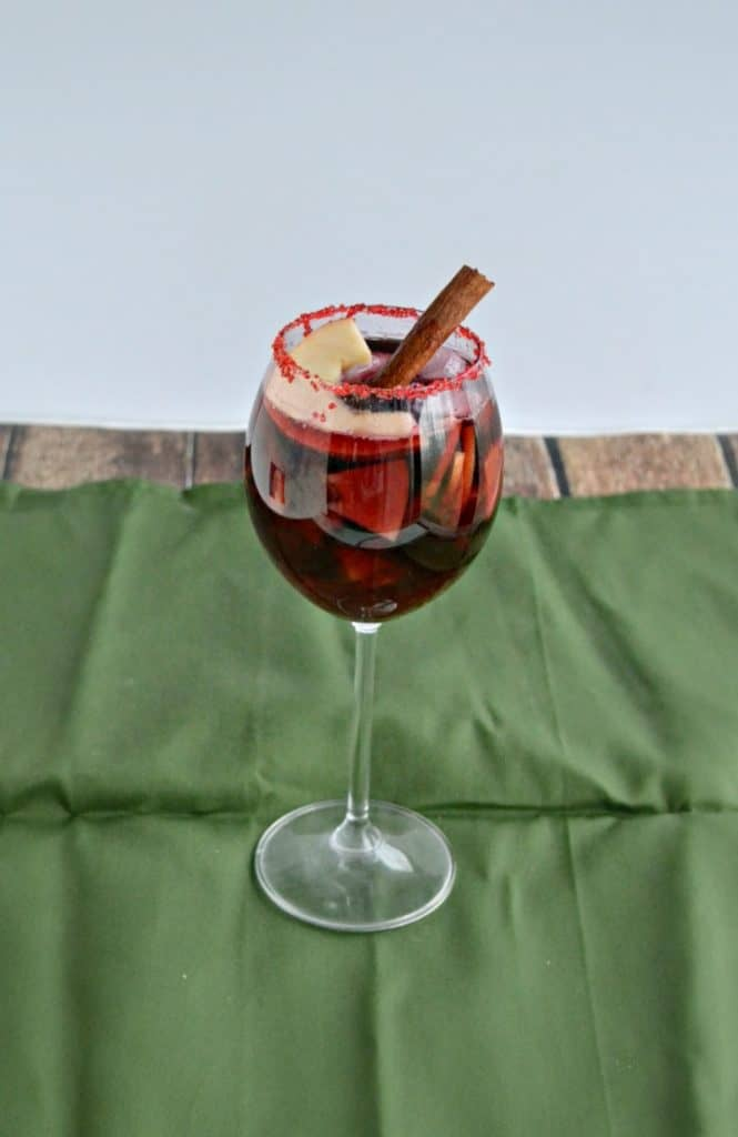 Apple Sangria with spices