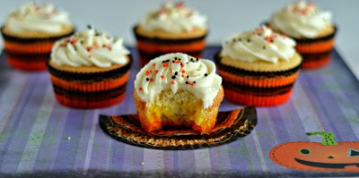 Candy Corn decorated cupcakes!