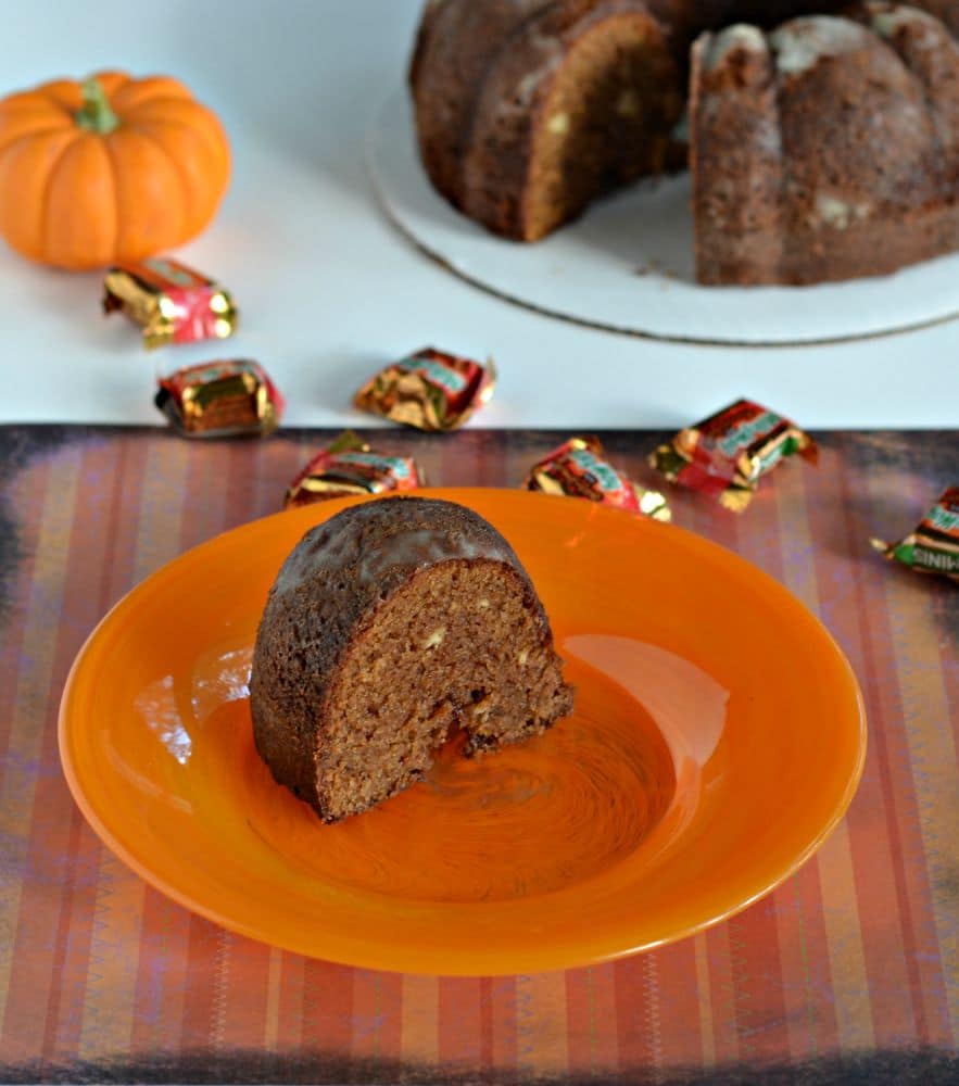 Caramel Apple Milky Way Bundt Cake