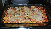 Baked Penne with Peppers and Sausage