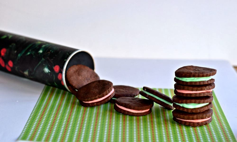 Dark chocolate sandwich cookies