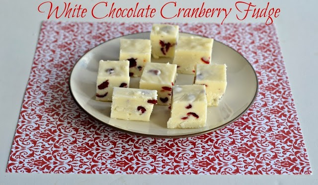 White Chocolate Cranberry Fudge from Hezzi-D's Books and Cooks