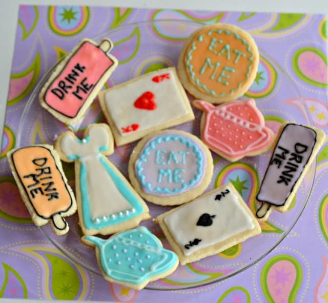 Alice in Wonderland Cookies from Hezzi-D's Books and Cooks