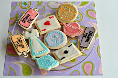 Alice in Wonderland Sugar Cookies