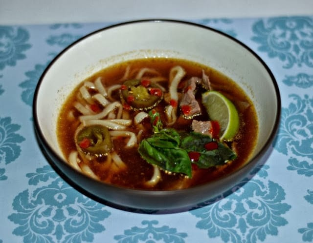 Thai Beef Noodle Soup not only tastes great, it looks good too!