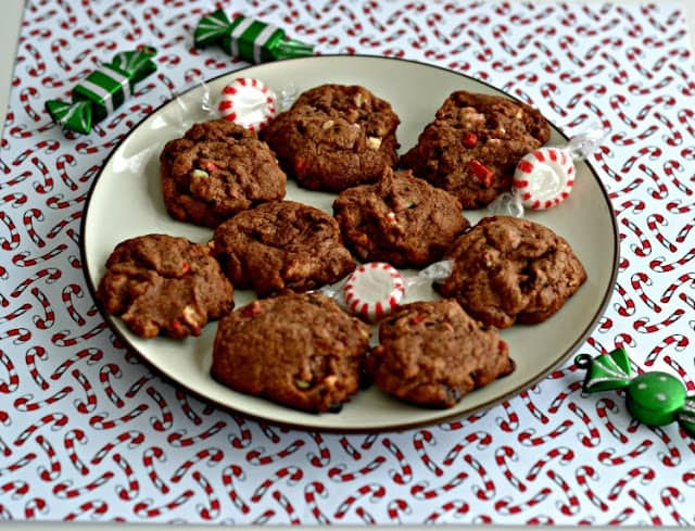 Chocolate Mint Cookies with Pepermint Chips