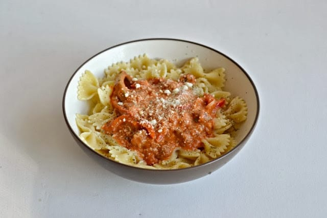 Pasta with Sausage and Peppers in Cream Sauce from Hezzi-D's Books and Cooks